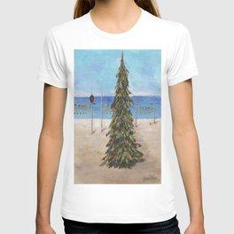 Christmas Tree at the Beach T-shirt