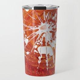 white splash on red Travel Mug