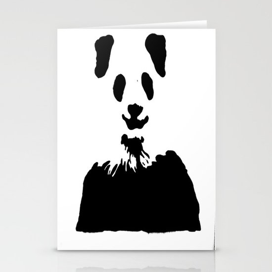 Pandas Blend into White Backgrounds Stationery Cards