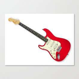 Left Handed Guitar Canvas Print