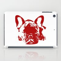 frenchie iPad Cases featuring Frenchie by Red Eyes Apparel