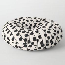 Dots / Black & White Pattern Floor Pillow