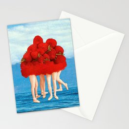 Strawberries dancers of the Sea Stationery Cards