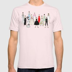 Audrey Hepburn Think Pink Outfits Fashion Mens Fitted Tee Light Pink MEDIUM