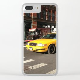 Taxi Cab Clear iPhone Case