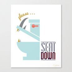 Rhino Says Seat Down! Canvas Print