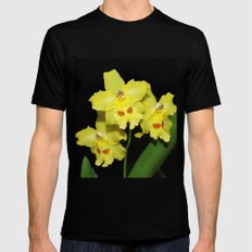 Glorious Golden Orchid - Odontonia Yellow Parade Alpine Mens Fitted Tee Black X-LARGE
