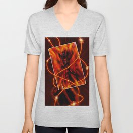 Fire and flames Unisex V-Neck