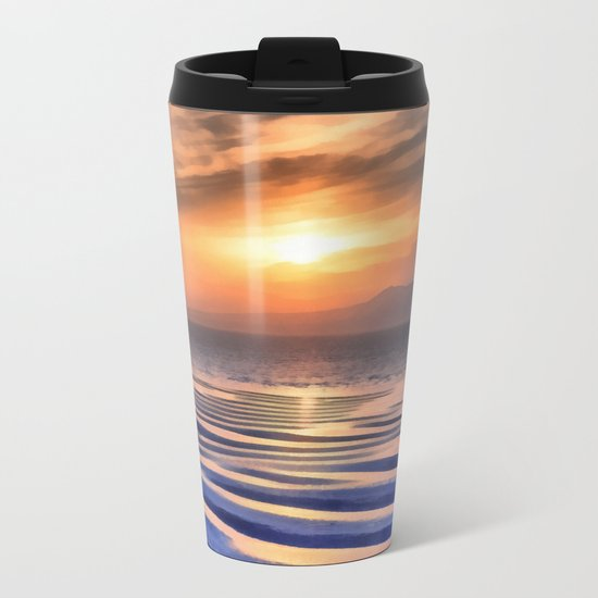 Sunset at high tide Metal Travel Mug