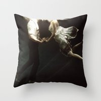 abyss Throw Pillows featuring abyss of the disheartened VII by Heather Landis