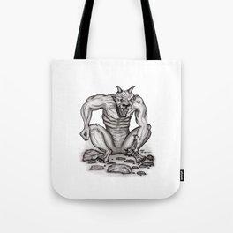 Mix - creature - Troll Devil and Golem Gargoyle Tote Bag