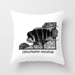 Frontosa Cichlid Throw Pillow