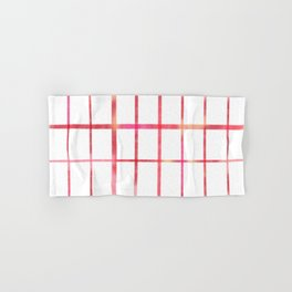 Minimalist grid in pink and red Hand & Bath Towel