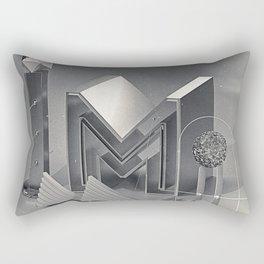 """Retro-futurism """"M"""" Rectangular Pillow"""
