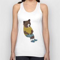 nike Tank Tops featuring Bear in Nike by Diana Hope