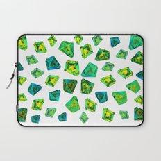 Green beautiful hand drawn gems. Laptop Sleeve