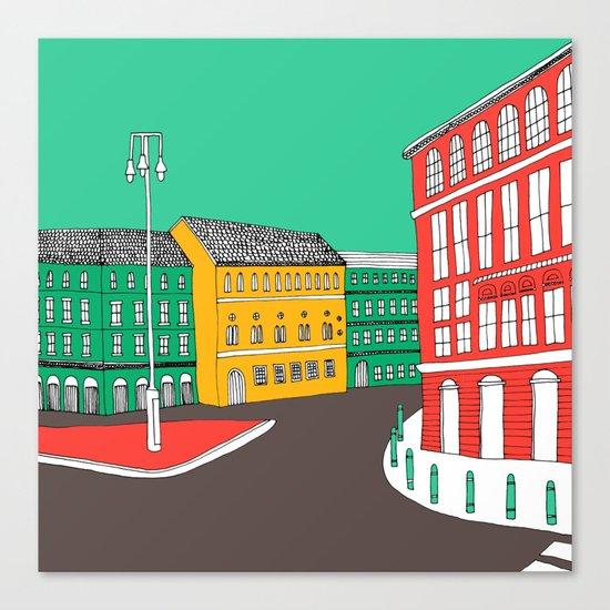 City Life // European Architecture Canvas Print
