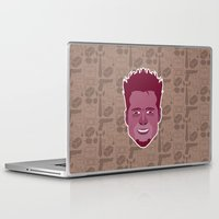 tyler durden Laptop & iPad Skins featuring Tyler Durden - FightClub by Kuki