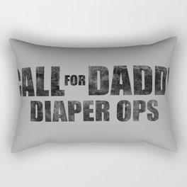 Call for Daddy: Diaper Ops Rectangular Pillow