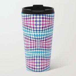 Dottywave - Blue Purple wave dots pattern Travel Mug