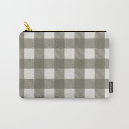 Gingham Cloth / Olive Checks Carry-All Pouch