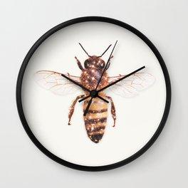 GLITTER BEE Wall Clock