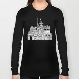 Paris toile raspberry Long Sleeve T-shirt