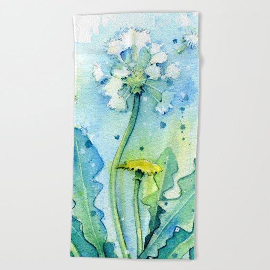Dandelion Beach Towel