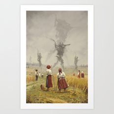 1920 -The march of the Iron Scarecrows Art Print