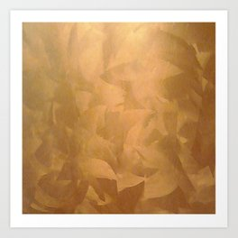 Brushed Copper Metallic - Beautiful - Rustic Glam - Fancy Faux Finishes - Metallic Paint Art Print