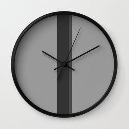 Three Shades of Grey Wall Clock