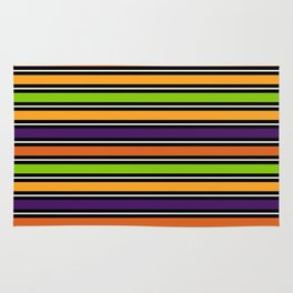 Modern colorful halloween October 31 abstract stripes Rug