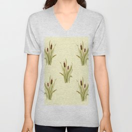 summer cattails Unisex V-Neck