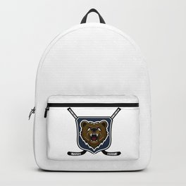 Modern professional grizzly bear logo for a sport team Backpack