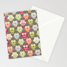 Forest Friends Owls Stationery Cards