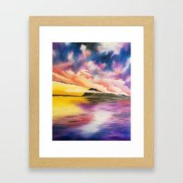 Drama Drama Drama, Cloudy Sky, Colorful Sunset, Beach Sunset Framed Art Print