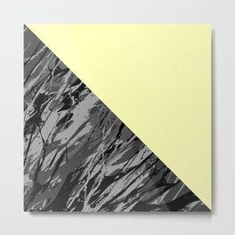 Black Camouflage Metal Print