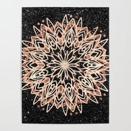 Metallic Mandala Poster
