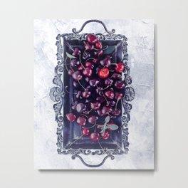 Winter Cherry Metal Print