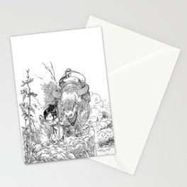 Promenade dans la montagne - Walking in the mountains Stationery Cards