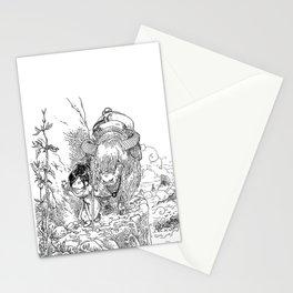 Promenade dans la montagne - Walking in the mountains Stationery Cards