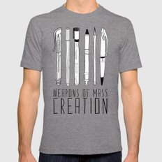weapons of mass creation Tri-Grey Mens Fitted Tee MEDIUM