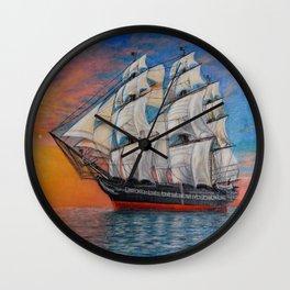 Sailing ship Wall Clock