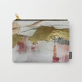Untranslated Stars: a minimal, abstract piece in gold, pink, and white by Alyssa Hamilton Art Carry-All Pouch