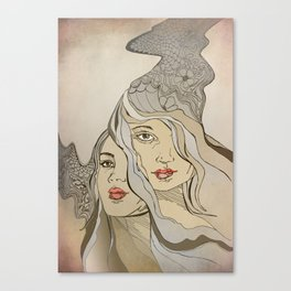 'daughters of achelous' Canvas Print