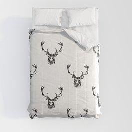 Christmas Deer Stag Antler Pattern Comforters