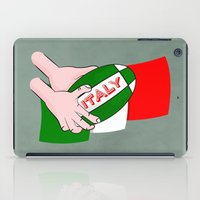 italy iPad Cases featuring Rugby Italy by mailboxdisco