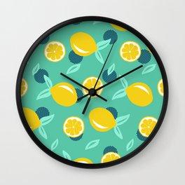 Lemon dots #society6 #decor #buyart Wall Clock