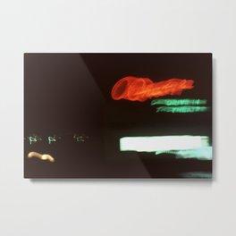 Night Lights Orange Drive-in Metal Print
