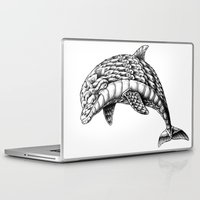 ornate Laptop & iPad Skins featuring Ornate Dolphin by BIOWORKZ